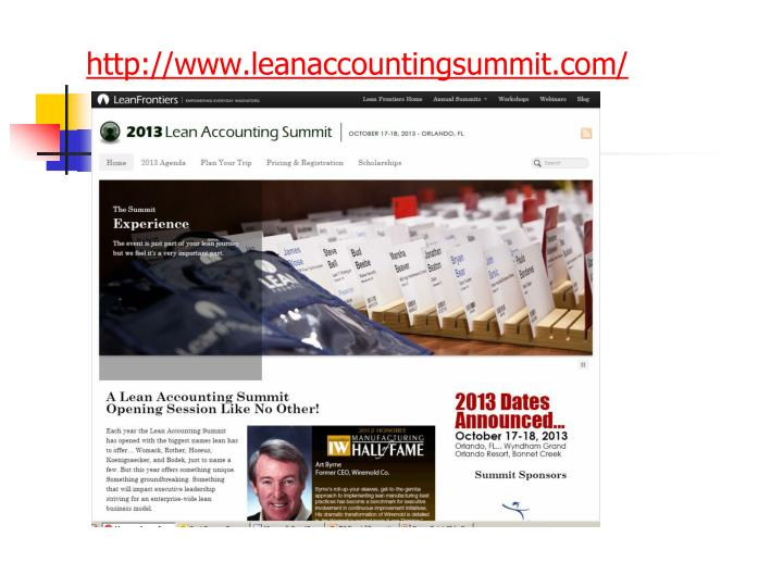 http://www.leanaccountingsummit.com/