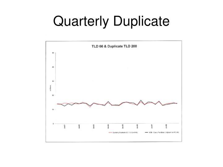 Quarterly Duplicate