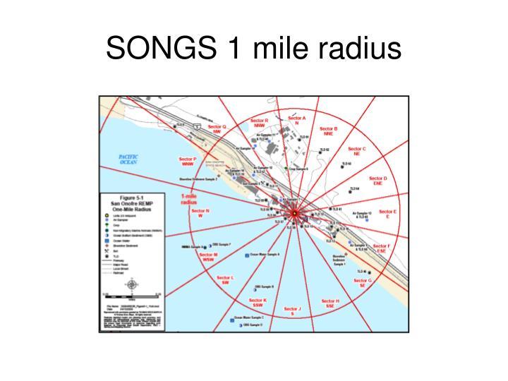 SONGS 1 mile radius