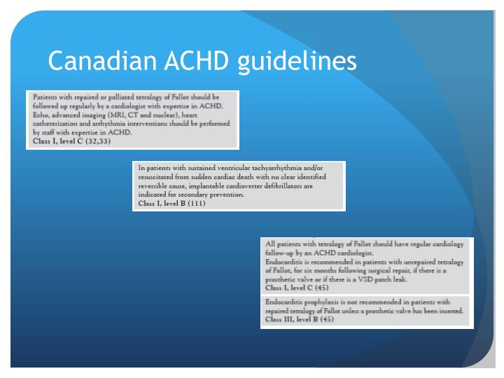 Canadian ACHD guidelines