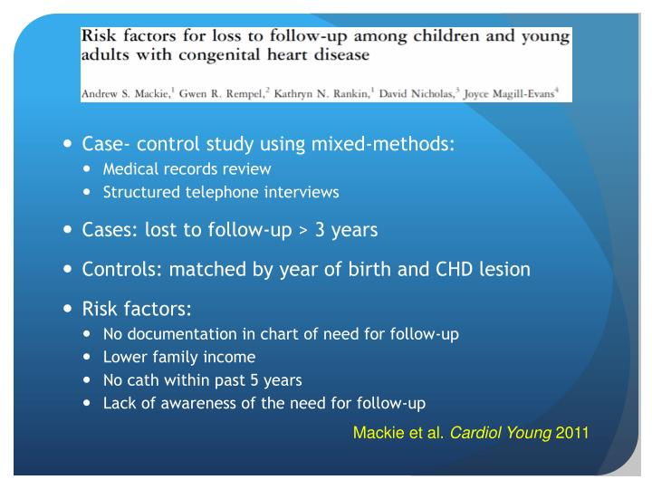 Case- control study using mixed-methods: