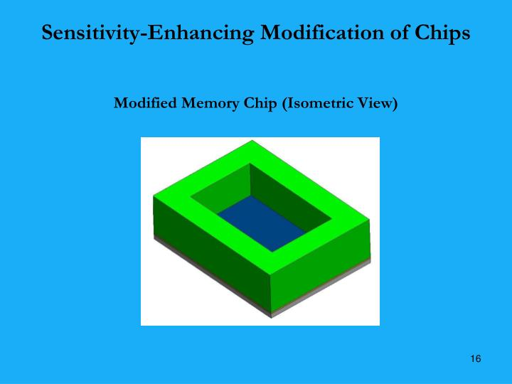Sensitivity-Enhancing Modification of Chips