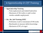 apprenticeship ojt training