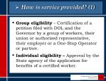 how is service provided 1