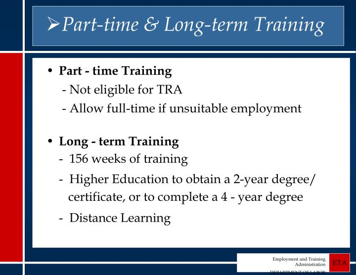 Part-time & Long-term Training