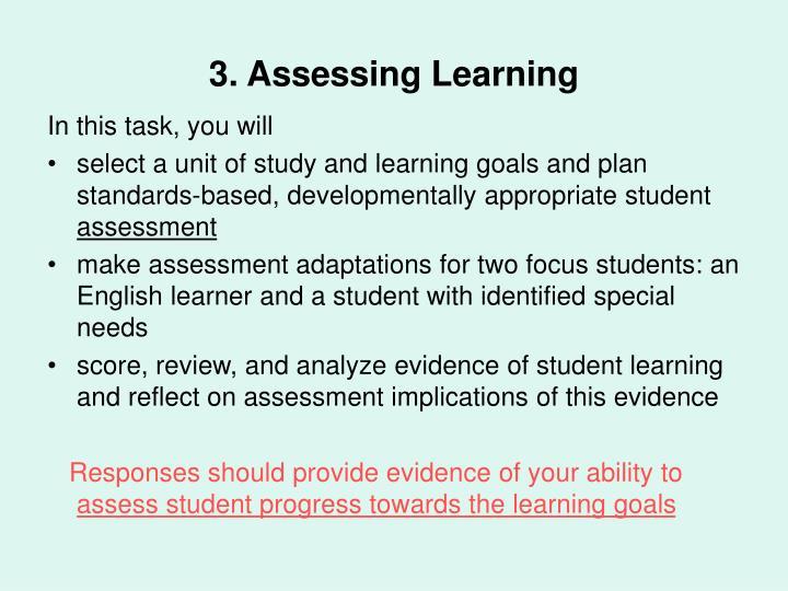 3. Assessing Learning