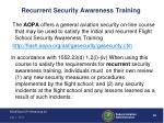 recurrent security awareness training