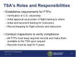 tsa s roles and responsibilities1