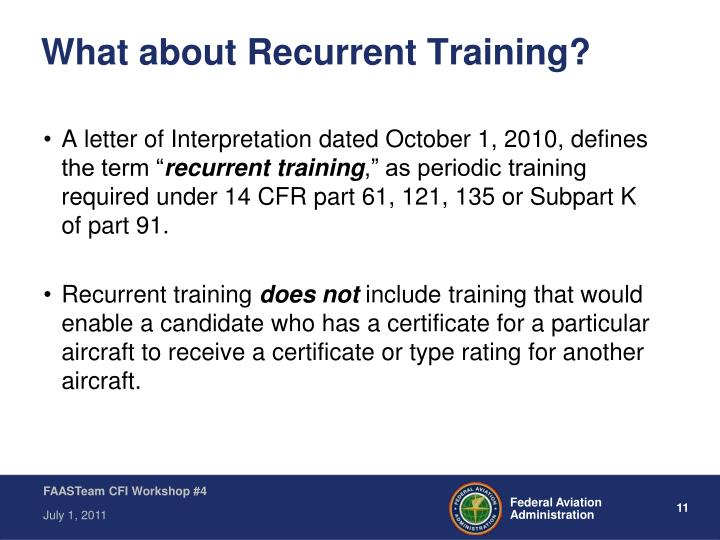 What about Recurrent Training?