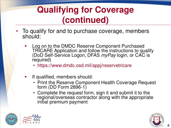 Qualifying for Coverage (continued)