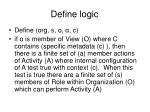 define logic