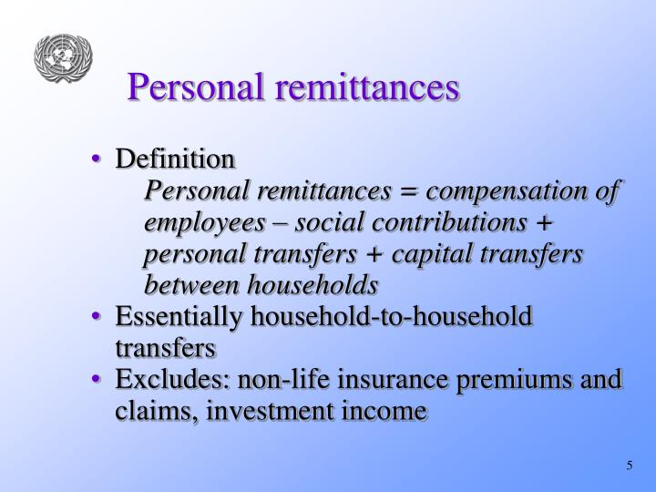 Personal remittances