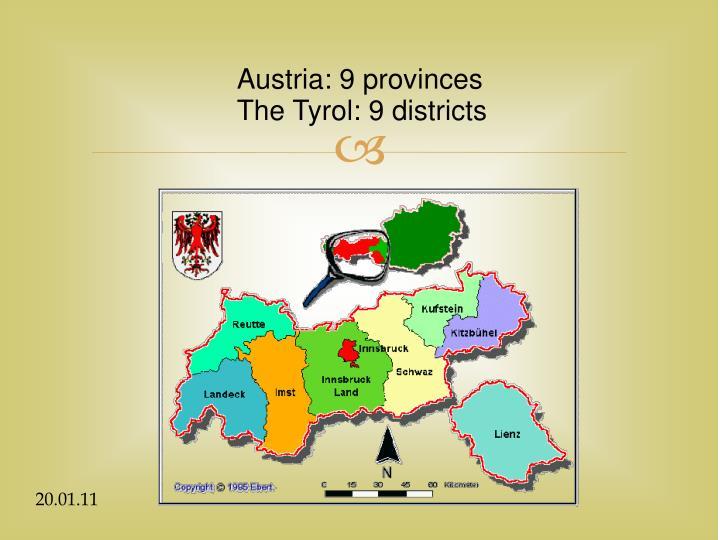 Austria: 9 provinces