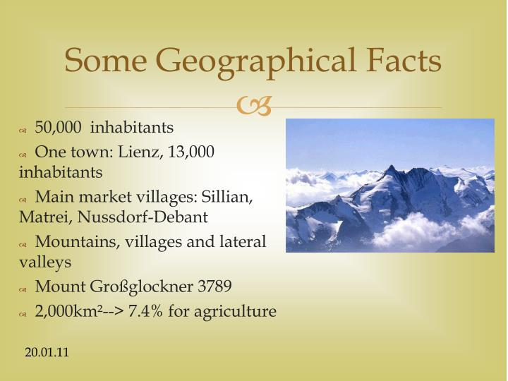 Some Geographical Facts