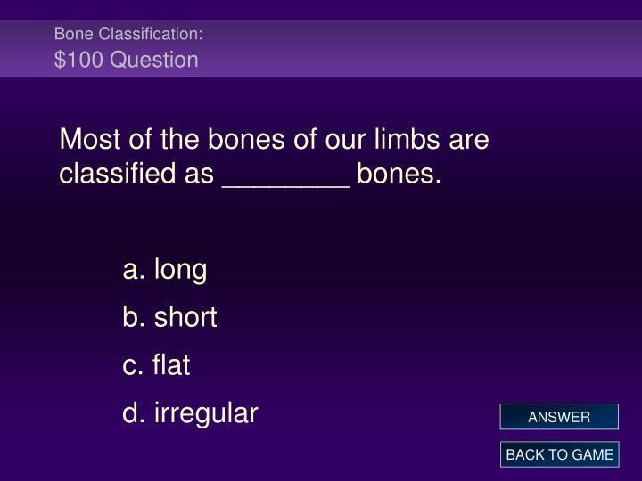 Bone Classification: