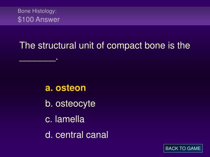 Bone Histology: