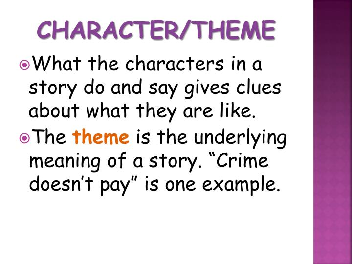 Character/Theme