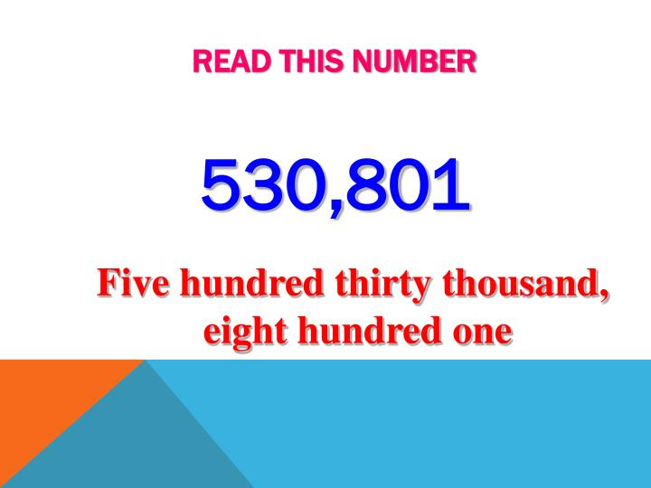 Read this number