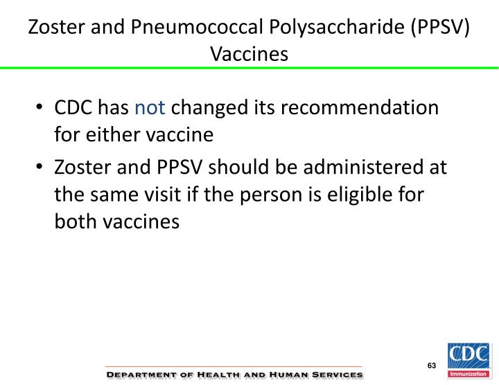 Zoster and Pneumococcal Polysaccharide (PPSV) Vaccines