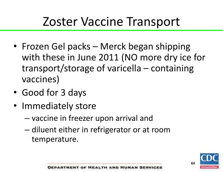 Zoster Vaccine Transport
