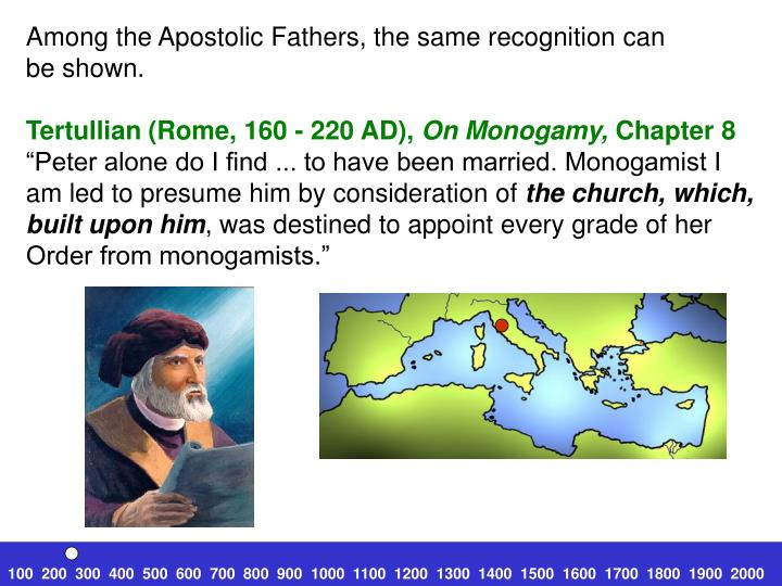 Among the Apostolic Fathers, the same recognition can