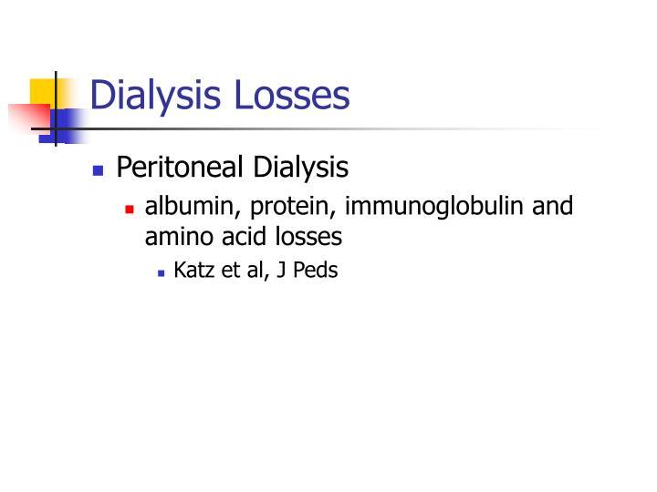 Dialysis Losses