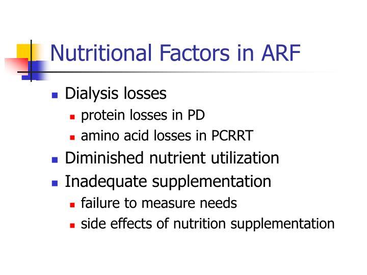 Nutritional Factors in ARF