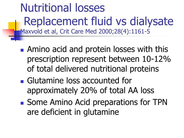 Nutritional losses