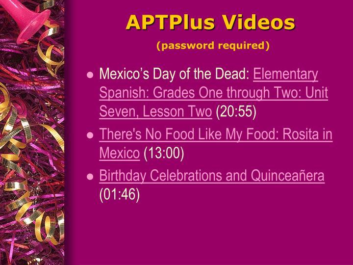 APTPlus Videos
