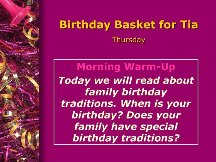 Birthday Basket for Tia