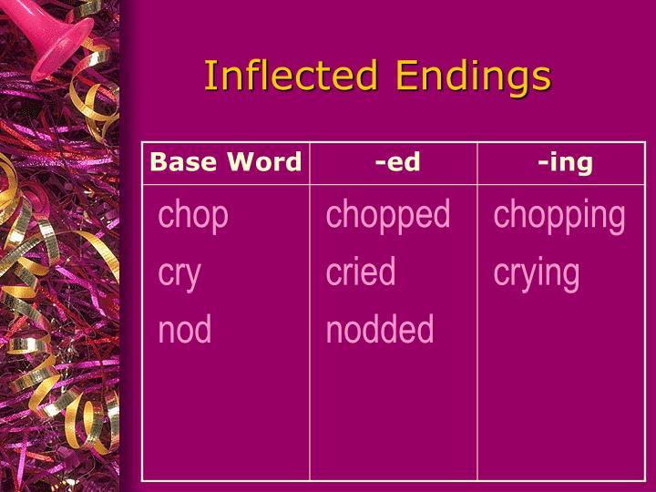 Inflected Endings