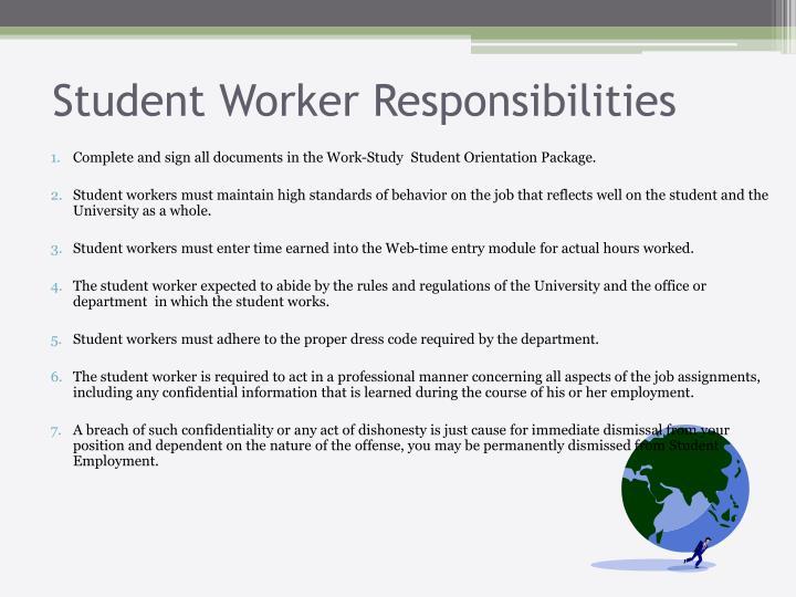 Student Worker Responsibilities