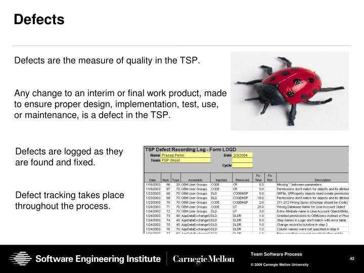 Defects are the measure of quality in the TSP.