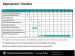 deployment timeline