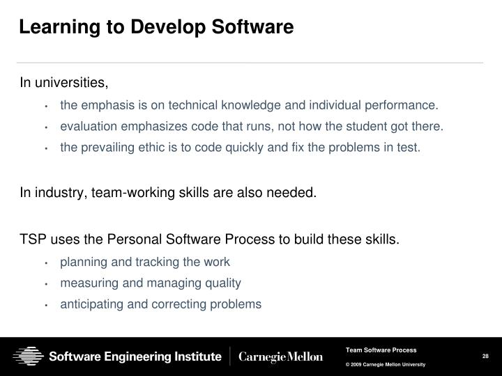 Learning to Develop Software