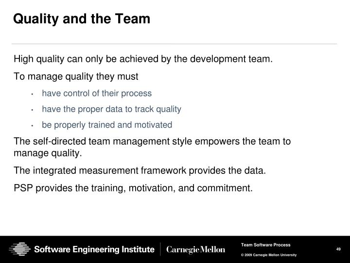 Quality and the Team