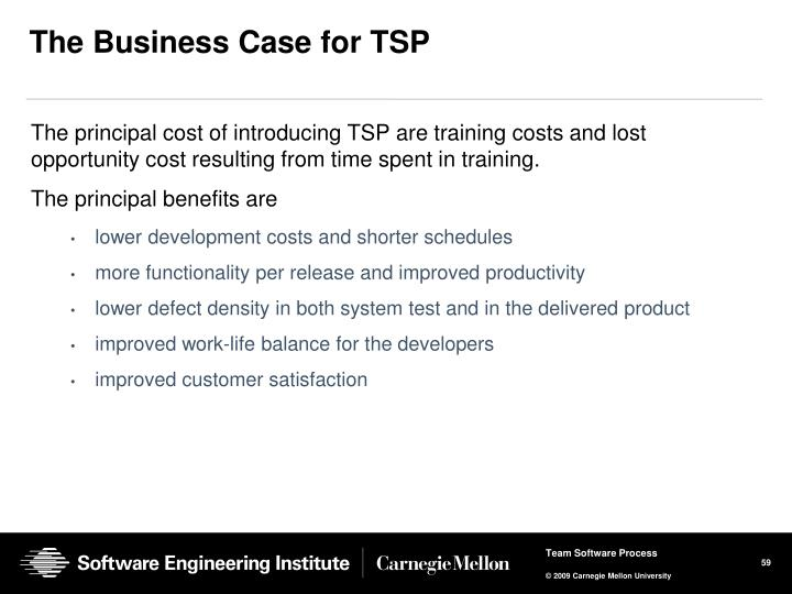The Business Case for TSP