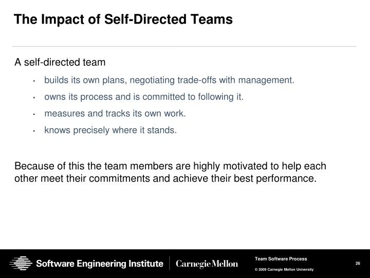 The Impact of Self-Directed Teams