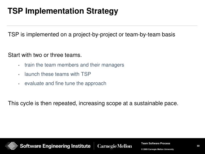 TSP Implementation Strategy