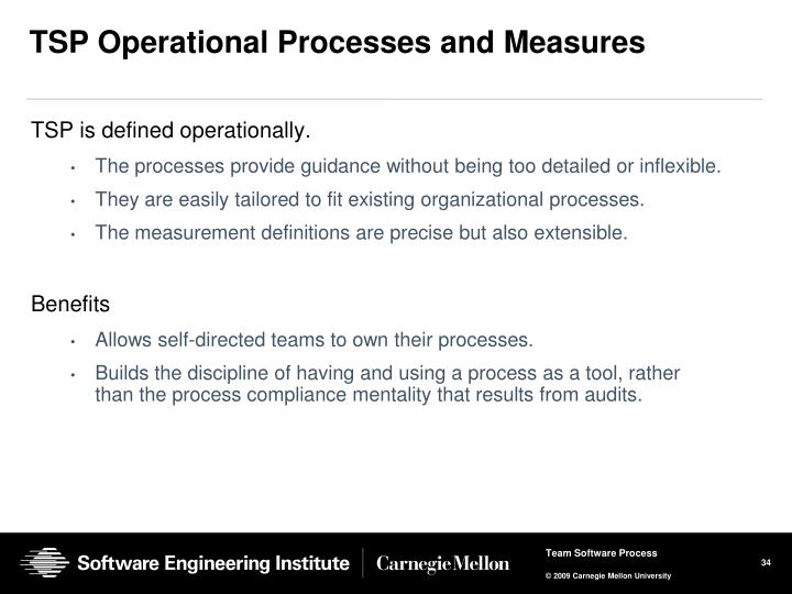 TSP Operational Processes and Measures