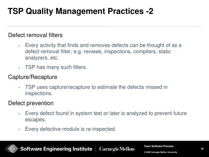 TSP Quality Management Practices -2