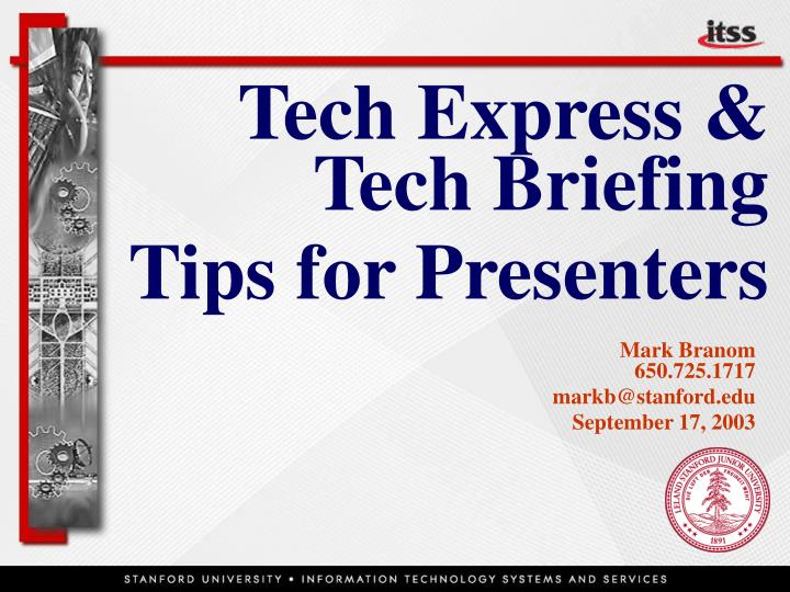 tech express tech briefing tips for presenters