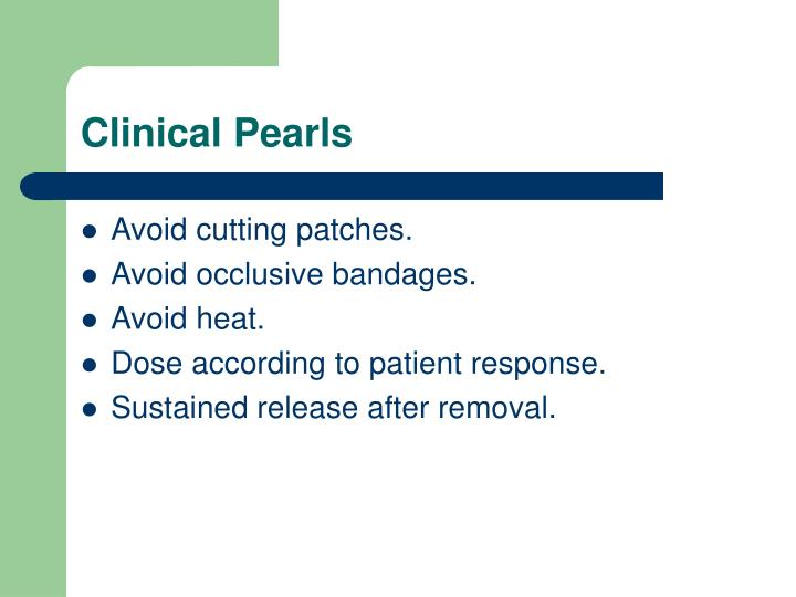 Clinical Pearls