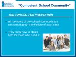 competent school community