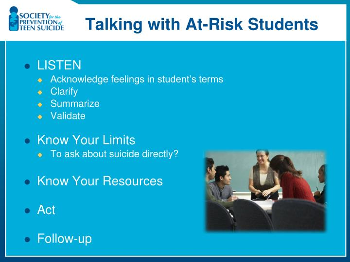 Talking with At-Risk Students