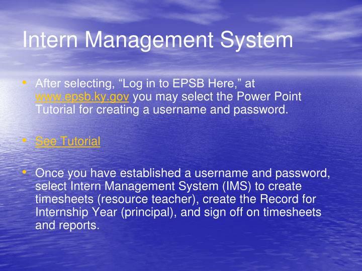 Intern Management System