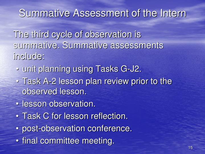 Summative Assessment of the Intern