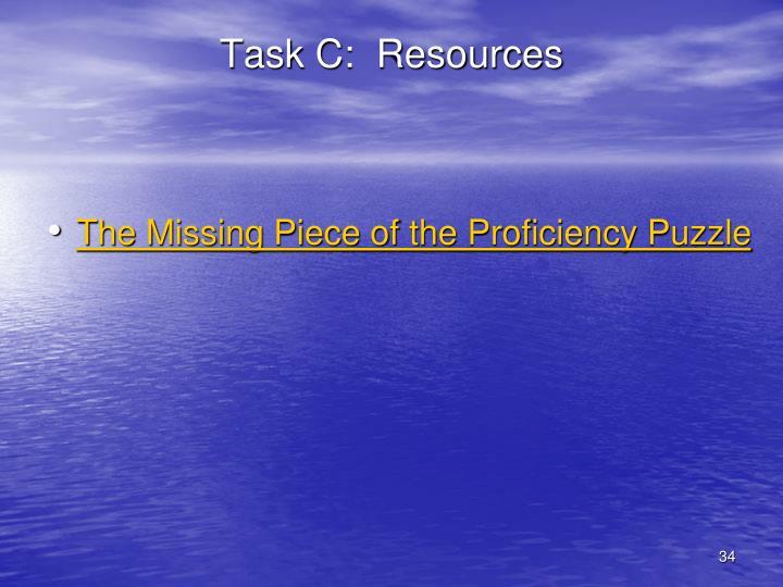Task C:  Resources