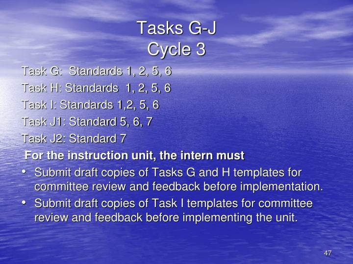 Tasks G-J