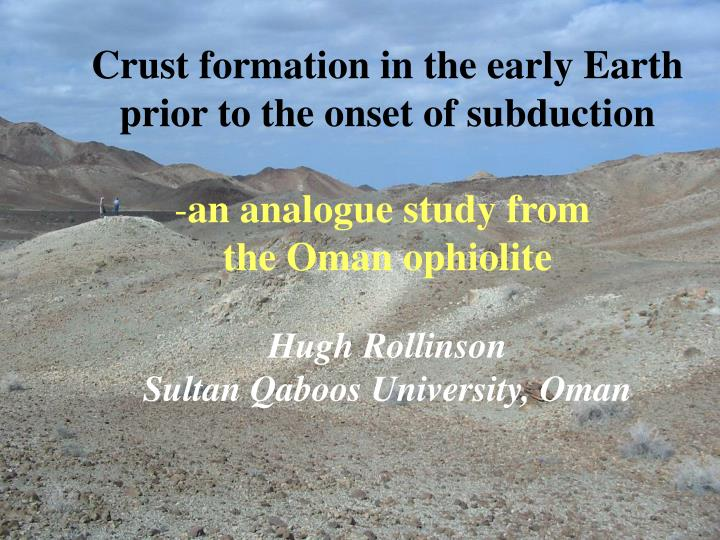 Crust formation in the early Earth